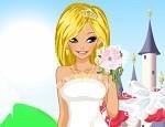 تلبيس فساتين الزفاف في القلعة
