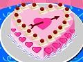 تجميل كيكة عيد الحب