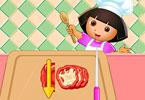 طبخ بيتزا دورا