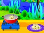 طبخ الارز بالفطر