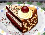 تزيين الكيكة البنية