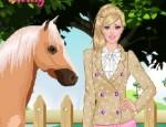 تلبيس باربي والحصان