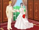 تلبيس فساتين زفاف حقيقية