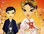 تلبيس عروسة يابانية