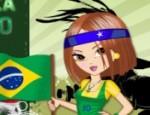 تلبيس مشجعات البرازيل