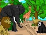 تلوين حيوانات الحديقة