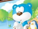 تلوين الدب الازرق