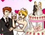 تلوين كيكة الزفاف